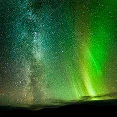The Northern Lights, a meteor streaking across the sky and the Milky Way are all captured in this picture taken in Ifjord, Finnmark, Norway by amateur photographer Tommy Eliassen.