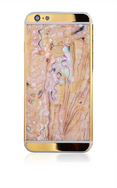 24k Gold & Mother of Pearl Black or White iPhone 6 by Goldgenie