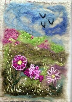 ATC Needlefelt Hedgerow 2 Traded | Connie | Flickr