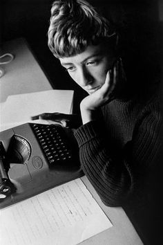 St Tropez., France 1956. Françoise Sagan. David Seymour.