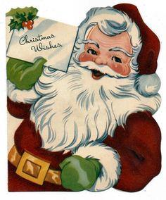 christmas card santa - Google Search