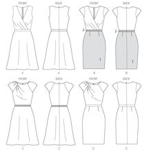 NEW LOOK Misses/'s dresses Long /& Manches Courtes sewing pattern 6567