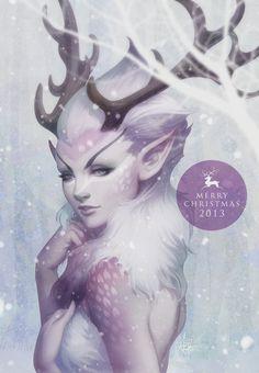 Reindeer Princess by Artgerm.deviantart.com on @deviantART