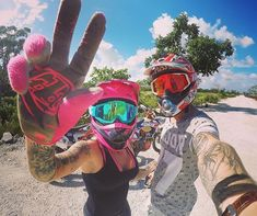 Motocross Couple, Motocross Love, Biker Couple, Lady Biker, Biker Girl, Biker Love, Dirt Bike Girl, Biker Quotes, Fox Racing