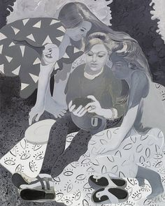 Today on Mistigram we wrap up our IWD series of paintings by @delphinehennelly of women and their smartphones originally released in our MIST1116 22nd anniversary artpack collection. If this untitled piece seems vaguely familiar go back and take a peek at yesterday's post... it's an earlier draft of the same composition rendered in a different style! I know that you computer artists are used to the luxury of just being able to try out a filter then roll it back if you're not satisfied with…