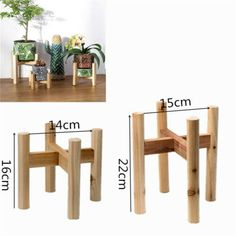 Wooden Plant Stand Flower Pot Holder Display Shelves Potted Rack Garden Decor - Plant Holder - Ideas of Plant Holder - Wooden Plant Stand Flower Pot Holder Display Shelves Potted Rack Garden Decor Price :