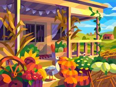 Fruit Illustration, Landscape Illustration, Anime Places, Mascot Design, Collor, Wallpaper Backgrounds, Wallpapers, Art Day, Coloring Books