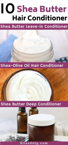 Try these 10 DIY Shea butter hair conditioner for soft, smoo.- Try these 10 DIY Shea butter hair conditioner for soft, smooth and shiny hair. T… Try these 10 DIY Shea butter hair conditioner for sof Best Natural Hair Products, Natural Hair Styles, Aloe Vera, Diy Conditioner, Homemade Deep Conditioner, Deep Conditioner For Natural Hair, Olive Oil Hair, Olive Oils, Moisturize Hair