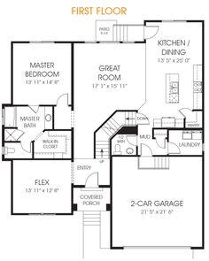 Orlando floor plan, dining room off of kitchen