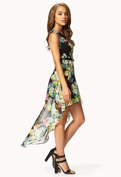 Floral print high low dress w belt forever21 summer time is finally