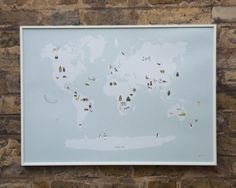 An Animal Map of the World. A revamped version from the the book Almost an Animal AlphabetFor anyone who is a fan of animals or Maps.Signed in bottom right hand corner. Printed on Challenger 300 gsm stock. Print measures 70cm x 50cm and comes UnframedWill be carefully package into a hardboard tube.