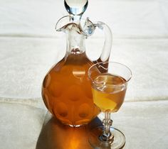 Wash the orange and lemon with warm water. Dry and peel them thinly. Put the skins on a baking tray and dry them in your oven on the lowest setting for one hour. Crush aniseed and cardamom in a pestle and mortar. Put them in a big jar, together with 3 tbsp lemon juice, the peels and wodka.Store it in a warm place for three weeks and shake it around a little every other day. Strain the mixture using a cheese cloth or fine sieve. Heat 500 ml of water with the light brown sugar until the ...