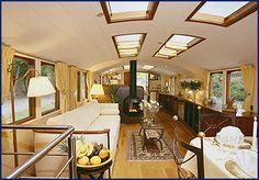 interior of French barge - Google Search ▇ #Home #Design #Decor via - Christina Khandan on IrvineHomeBlog - Irvine, California ༺ ℭƘ ༻