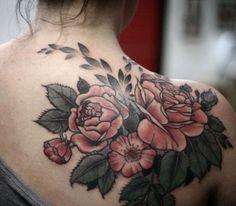 Tatuagem arranjo floral by Alice Carrier