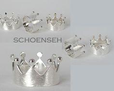 Kronenring,+Ring,+Krone,+925er+Silber,+gebürstet+von+zuHause+auf+DaWanda.com