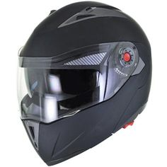 NEW Flat/Matte Black Modular Flip Up Dual Visor DOT Motorcycle Helmet - S/M/L/XL #EVOSHelmetCorp