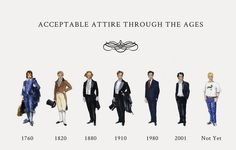 Acceptable attire through the years...