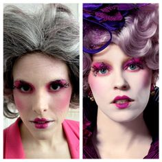 I love this!  What a great costume!!!Behind the Scenes at Our Halloween Makeup Tutorial Shoot: Effie Trinket