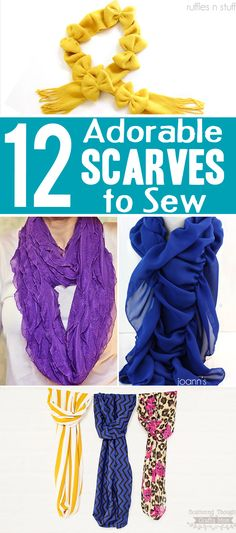 12 Adorable DIY Scarf sewing tutorials to inspire for your next sewing project.