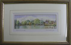 http://www.bramptonpictureframinggallery.co.uk/page/artists  Watercolour of The Chinese Bridge, Godmanchester by Fred Betteridge. Framed by Brampton Framing. Available to view in our gallery. £42   65 High Street Brampton Huntingdon Cambridgeshire England PE28 4TQ