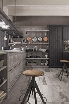 cucina maestrale in abete grafite e ardesia di scandola mobili maestrale kitchen in spruce
