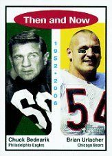 2006 Topps Heritage Then and Now #TN2 Brian Urlacher/Chuck Bednarik by Topps Heritage. $4.00