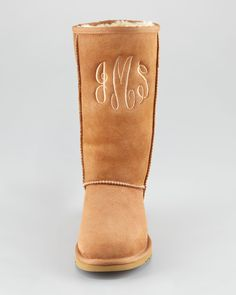 monogrammed Uggs. But I would put mine on the back...