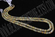 Ethiopian Opal Faceted Roundel Quality A / 36 cm by beadsogemstone, $75.00