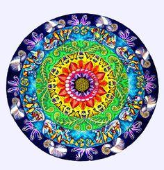Impresión de la Mandala de samsara patrón por PaintMyWorldRainbow