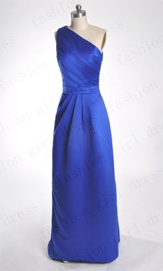 Custom Beach Floor-length One-shoulder Long Prom/Evening/Party/Homecoming/Bridesmaid/Cocktail/Formal Dress 2013 New Arrival prom dresses on Etsy, $117.00