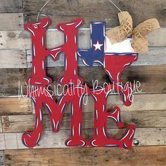 TX HOME door hanger, state door hanger, home decor, signs,