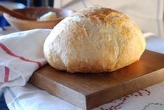 Simply So Good: Artisan No-knead Bread.  This stuff is so delicious and foolproof to make.  I could eat the whole loaf slathered with butter all by myself in a day!