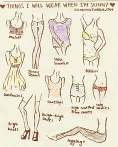 Things I'll Wear When I'm Skinny - cute sketches!