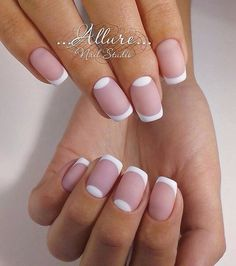 French nails by Russian artist. Great for bridal, wedding, natural, nude nails