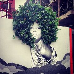 Street Art With The Nature in Bogota, Colombia