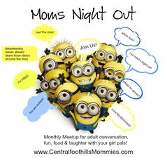 Moms night Out each month, join our fun and friendly group of moms for dinner out on the town #MNO #nokids #fun #momsgroups #NC