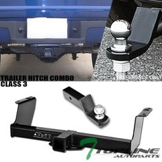 "Topline For 88-00 Chevy//GMC C10 C-Series Class 3 Trailer Hitch Receiver 2/"" Blk"