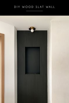 DIY WOOD SLAT WALL Ever since I saw my first wood slat wall treatment I knew I had to have one in our house. Slat Wall, Wood Diy, Wall Decor Bedroom, Black Walls, Wood Slat Wall, Wood Slats, Wall Treatments, Wall Paneling, Fireplace Wall