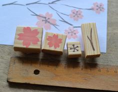 Sakura flowers stamp set