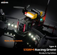 This model is discontinued   Own the game, own this. Storm and Helipal proudly present   Storm Racing Drone Type-B Ready to Fly Edition  For a long time we have wished to fly a drone with a video system, ju