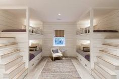 Best Bunk Beds for Kids And Teens with Storage Design Ideas This bunk bedroom with character grade white oak floors make for a perfect night in Queen Bunk Beds, Bunk Bed Rooms, Bunk Beds Built In, Cool Bunk Beds, Bunk Beds With Stairs, Kids Bunk Beds, Bedrooms, White Bunk Beds, Built In Beds For Kids