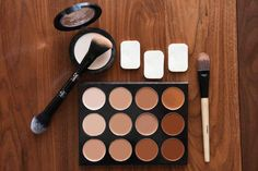 Here are the tools you'll need for contouring cleavage. Lol!