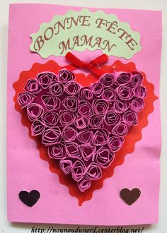 carte avec coeur en quilling pour la Fête des mères *2010*