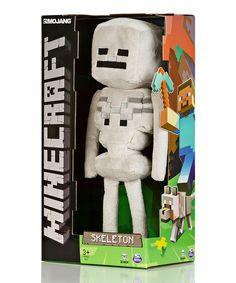 Look what I found on #zulily! Minecraft Skeleton Plush Toy by Minecraft #zulilyfinds
