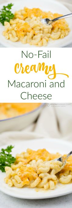No-Fail Creamy Macaroni and Cheese Recipe - Your kids will love the taste of this macaroni and cheese and they'll also love helping you make it. This is a fantastic recipe for cooking with kids. Spons (Baking Macaroni And Cheese) Creamy Macaroni And Cheese, Macaroni N Cheese Recipe, Cheese Recipes, Pasta Cheese, Creamy Pasta Recipes, Best Pasta Recipes, Noodle Recipes, Vegetarian Recipes, Savoury Recipes