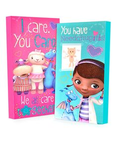 Love this Doc McStuffins Glow-in-the-Dark Wrapped Canvas Set on #zulily! #zulilyfinds