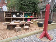 Spielplatz im Garten - Fotos und kreative Ideen You are in the right place about Outdoor play areas for babies Here we offer you the most beautiful Outdoor Learning Spaces, Kids Outdoor Play, Outdoor Play Spaces, Backyard For Kids, Outdoor Fun, Backyard Ideas, Garden Kids, Family Garden, Outdoor Toys