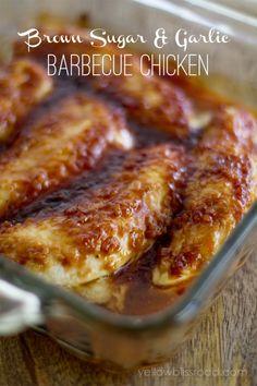 Brown Sugar & Garlic Barbecue Chicken