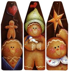 The Decorative Painting Store: Gingerbread Joys, Sharon Chinn: Gingerbread Crafts, Christmas Gingerbread, Christmas Gift Tags, Rustic Christmas, Christmas Holidays, Christmas Crafts, Christmas Decorations, Christmas Ornaments, Xmas
