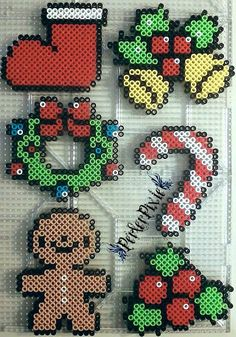 Christmas ornaments perler beads by PerlerPixie on DeviantArt
